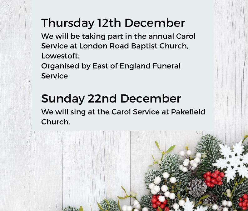 Carol Services 2019