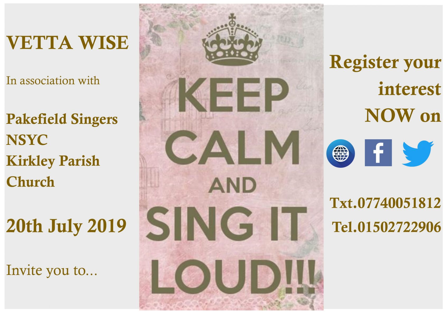Come & Sing 2019